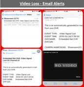 video loss email alert